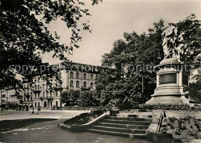 AK / Ansichtskarte Basel_BS Grand Hotel und Hotel Euler Basel_BS