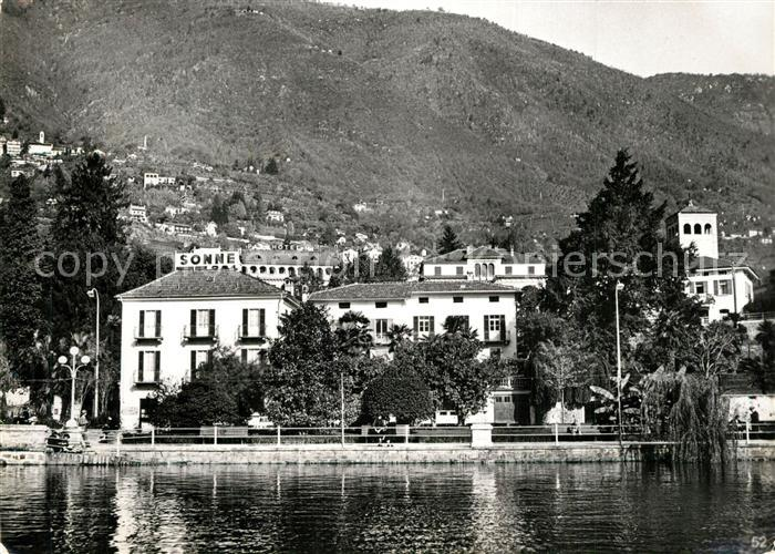 AK / Ansichtskarte Locarno_Lago_Maggiore Hotel Sonne am See Locarno_Lago_Maggiore