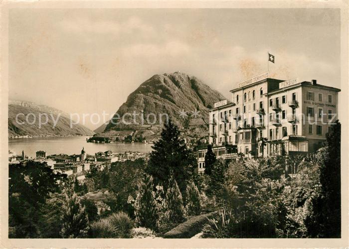 AK / Ansichtskarte Lugano_TI Hotel Gotthard Terminus Lugano_TI
