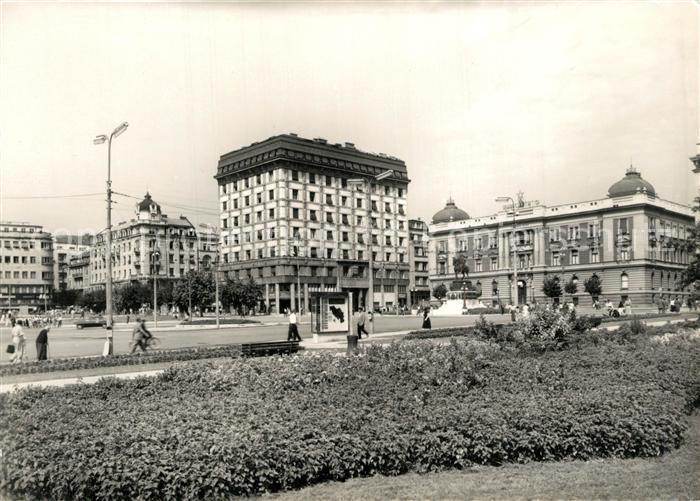 AK / Ansichtskarte Beograd_Belgrad Trg Republik Beograd Belgrad
