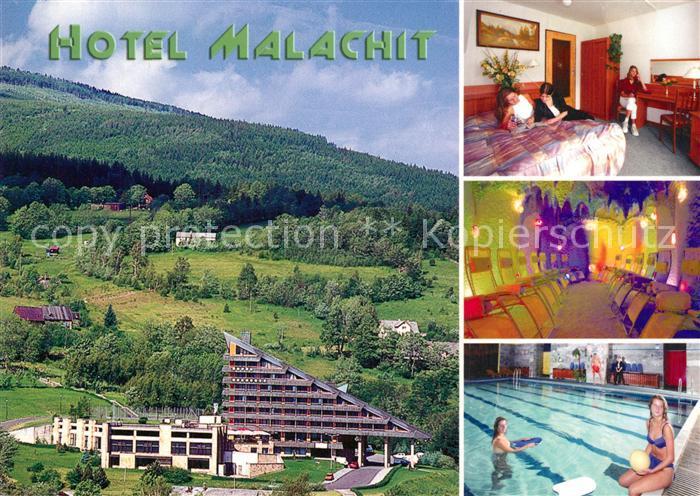 AK / Ansichtskarte Bad_Flinsberg_Swieradow_Zdroj Hotel Malachit Hallenbad Bad_Flinsberg