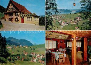 AK / Ansichtskarte Emmetten Gasthaus zur Eintracht Gaststube Seilbahn Panorama Emmetten