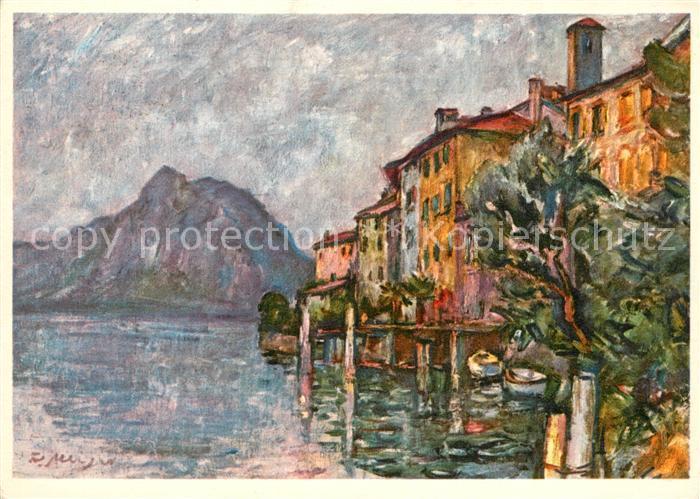 AK / Ansichtskarte Gandria_Lago_di_Lugano Debarcadero di Gandria Gandria_Lago_di_Lugano