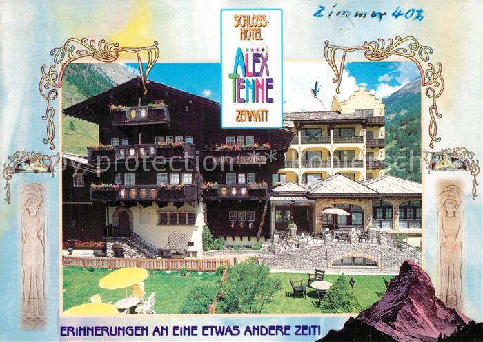 AK / Ansichtskarte Zermatt_VS Schlosshotel Alex Tenne Zermatt_VS