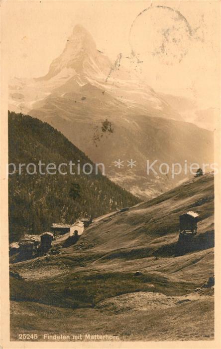 AK / Ansichtskarte Findelen_VS Matterhorn Findelen_VS