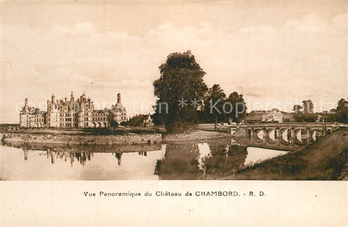 AK / Ansichtskarte Chambord_Blois Panorama Chateau Chambord Blois