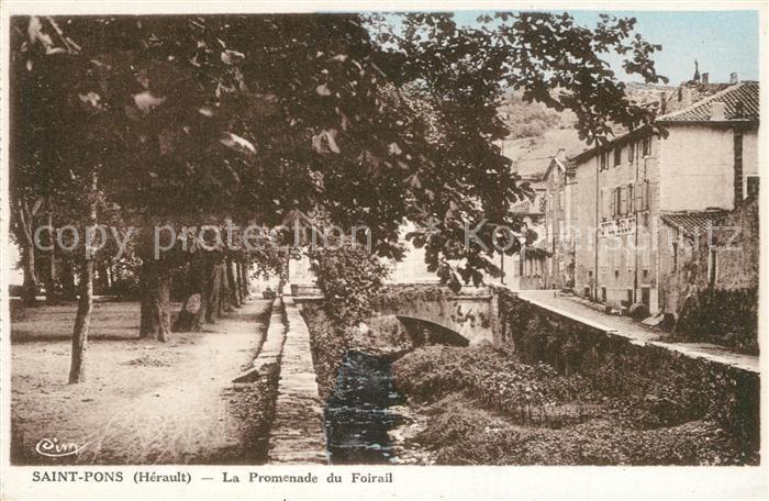 AK / Ansichtskarte Saint Pons de Thomieres Promenade du Foirail Saint Pons de Thomieres