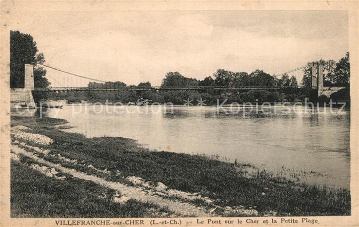 AK / Ansichtskarte Villefranche sur Cher Pont sur le Cher Petite Plage Villefranche sur Cher