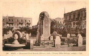AK / Ansichtskarte Sfax Monument Paul Bourde  Sfax