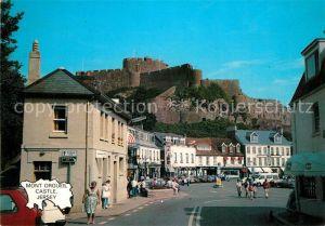 AK / Ansichtskarte Gorey_Jersey Pier Mont Orgueil Castle Stadtpanorama Gorey Jersey