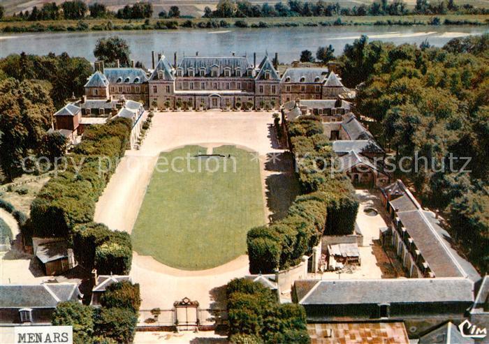 AK / Ansichtskarte Menars Fliegeraufnahme Chateau de Madame Pompadour Menars