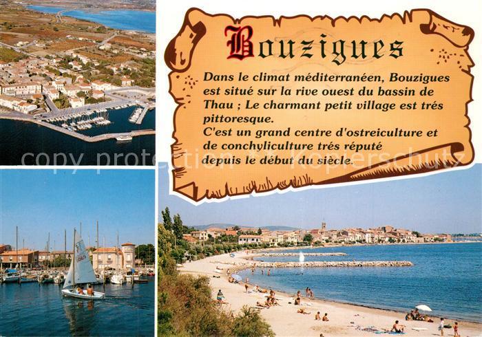 AK / Ansichtskarte Bouzigues Plage Port Fliegeraufnahme Chronik Bouzigues