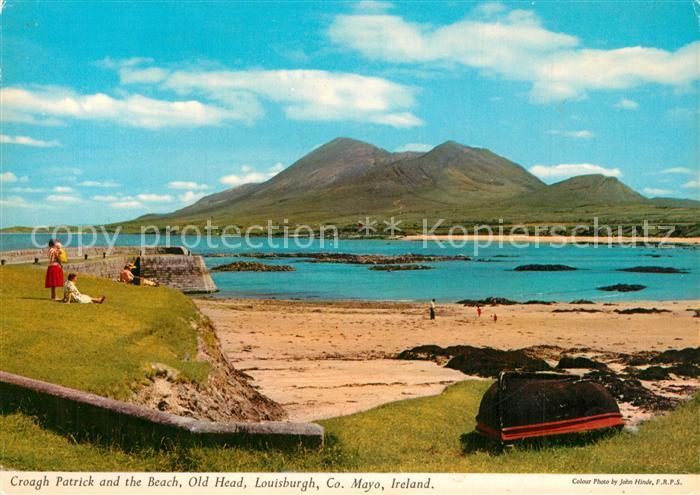 AK / Ansichtskarte Louisburgh Croagh Patrick and Beach Old Head
