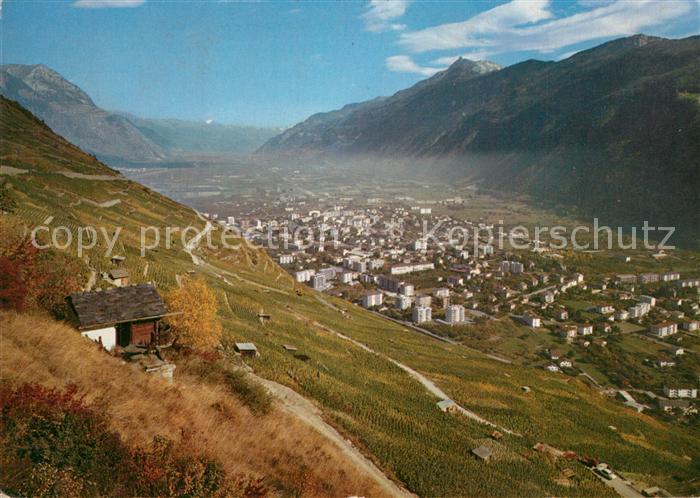 AK / Ansichtskarte Martigny_VS Vue panoramique en automne Alpes Martigny VS