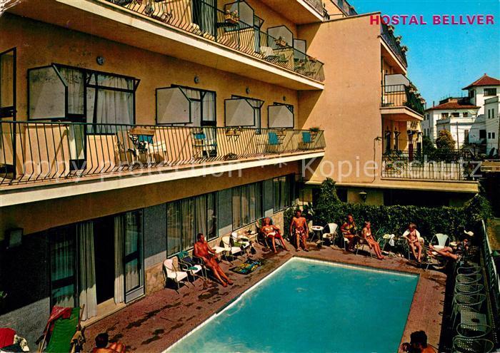 AK / Ansichtskarte Palma_de_Mallorca Hostal Bellver Piscina Palma_de_Mallorca