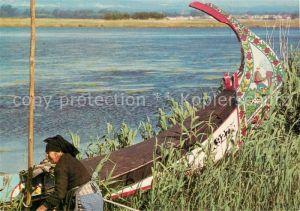 AK / Ansichtskarte Aveiro River branch Uferpartie am Fluss Boot Aveiro