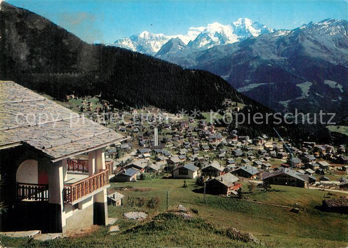 AK / Ansichtskarte Verbier Panorama au fond le Grand Combin Walliser Alpen Verbier