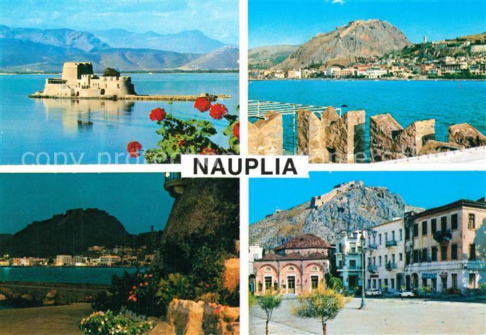 AK / Ansichtskarte Nauplia_Nauplion Teilansichten Insel Berge Nauplia Nauplion