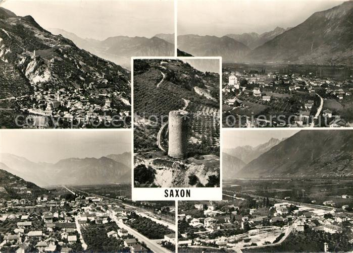 AK / Ansichtskarte Saxon Fliegeraufnahme Steinturm Saxon