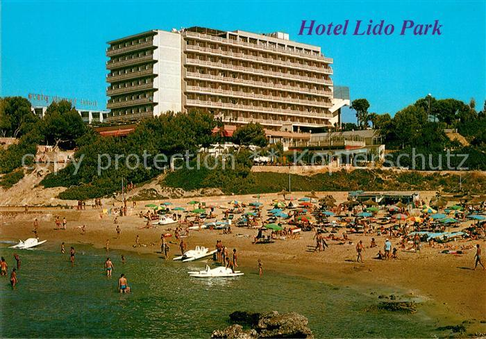 AK / Ansichtskarte Paguera_Mallorca_Islas_Baleares Hotel Lido Park Strand Paguera_Mallorca