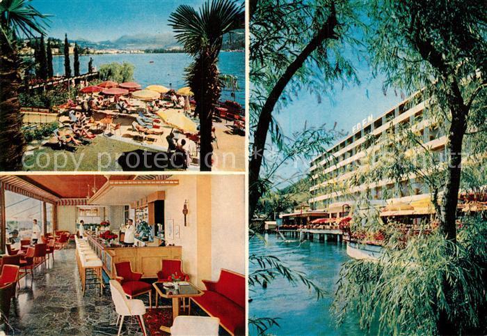 AK / Ansichtskarte Paradiso_TI Grand Hotel Eden Bar Terrasse Lago di Lugano Paradiso TI