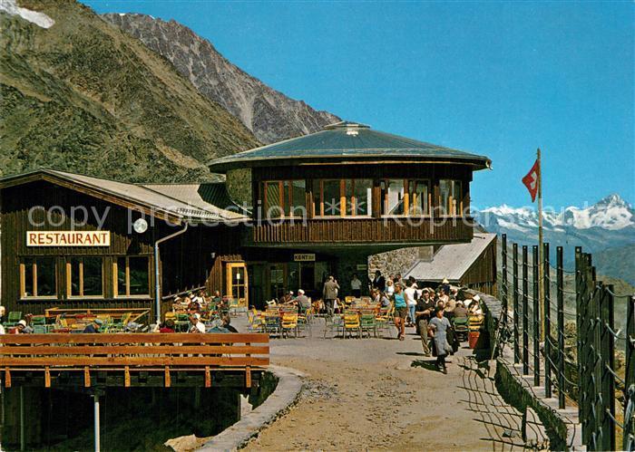 AK / Ansichtskarte Saas Fee Bergsteigerheim Restaurant  Saas Fee