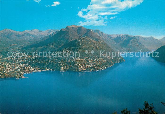 AK / Ansichtskarte Castagnola_Lago_di_Lugano con Monte Bre Fliegeraufnahme