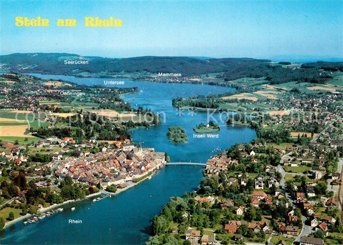 AK / Ansichtskarte Stein_Rhein Fliegeraufnahme Stein Rhein