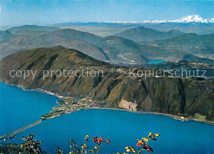 AK / Ansichtskarte Melide mit Carona Collina d'Oro und Monte Rosa Fliegeraufnahme Melide