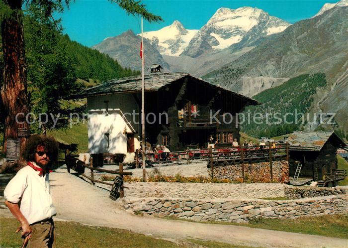 AK / Ansichtskarte Saas Fee Restaurant zur Schaeferstube Saas Fee