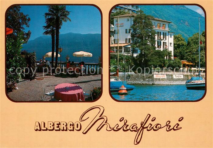 AK / Ansichtskarte Brissago_Lago_Maggiore Hotel Mirafiori Terrasse Brissago_Lago_Maggiore