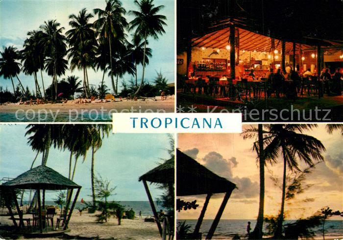 AK / Ansichtskarte Libreville Restaurant Tropicana Strand Palmen Libreville