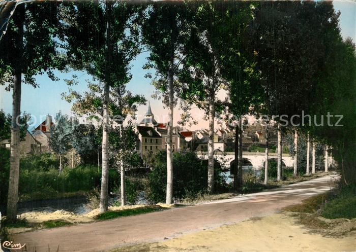 AK / Ansichtskarte Celle Dunoise_La Vue prise sur la route de Dun le Palestel Celle Dunoise_La