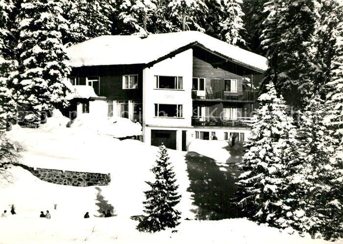 AK / Ansichtskarte Arosa_GR Gaestehaus Pension Haus Susi im Winter Arosa_GR