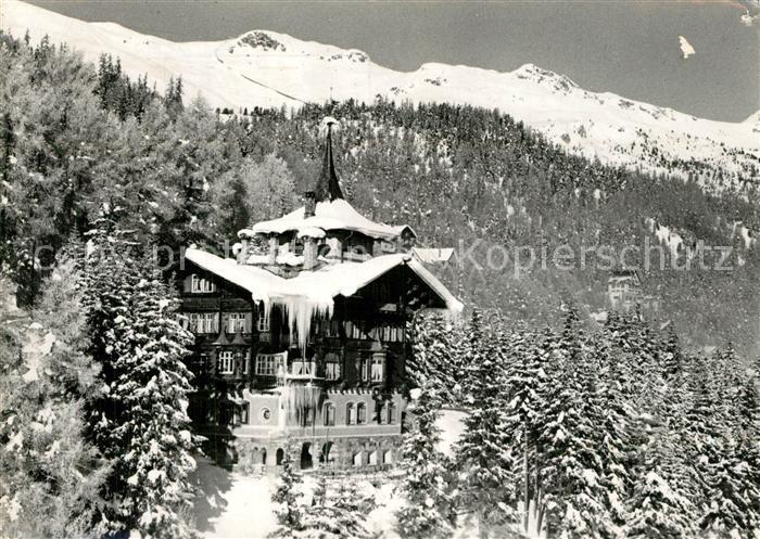 AK / Ansichtskarte St_Moritz_GR Hotel Chesa Sur L En Wintersportplatz Alpen St_Moritz_GR