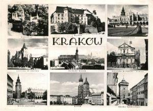 AK / Ansichtskarte Krakow_Krakau Sehenswuerdigkeiten der Stadt Krakow Krakau