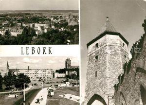 AK / Ansichtskarte Lebork Widok ogolny Plac Pokoju Gotycka Gaszta Bluszczowa Lebork