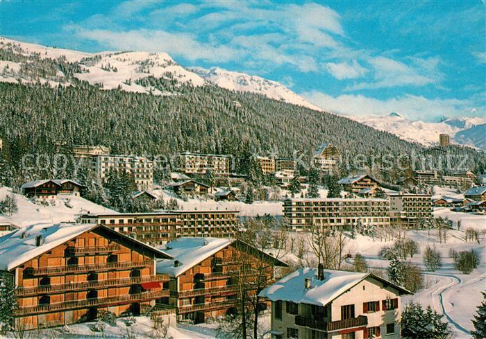 AK / Ansichtskarte Crans Montana Panorama Wintersportplatz Alpen Crans Montana