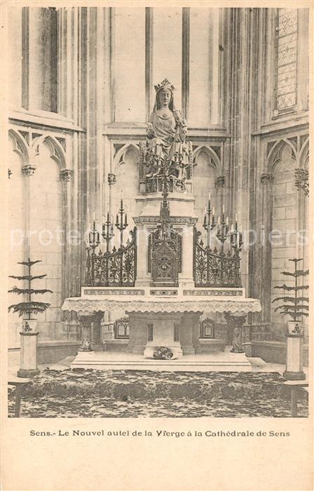 AK / Ansichtskarte Sens_Yonne Nouvel Vierge Cathedrale Sens_Yonne