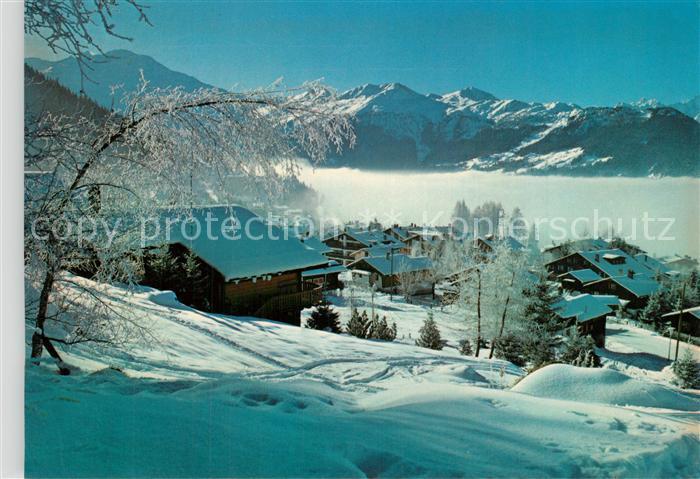 AK / Ansichtskarte Verbier Winterlandschaft Verbier