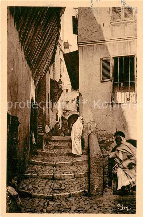 AK / Ansichtskarte Alger_Algerien Une rue arabe Alger Algerien