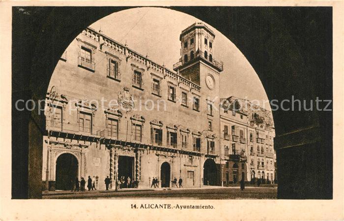 AK / Ansichtskarte Alicante Ayuntamiento Alicante