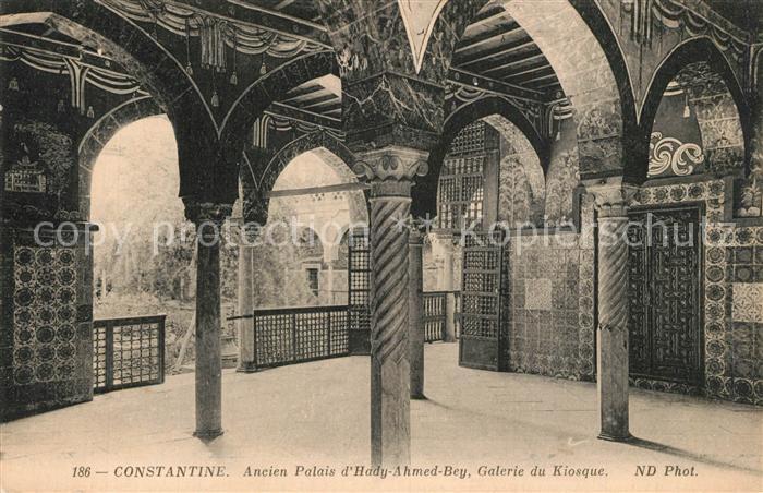 AK / Ansichtskarte Constantine_Algerien Ancien Palais d Hady Ahmed Bey Galerie du Kiosque