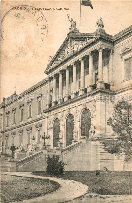 Madrid_Spain Biblioteca nacional Madrid Spain