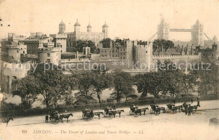 London Tower of London and Tower Bridge London