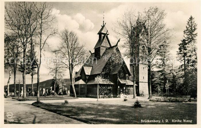 Brueckenberg Kirche Wang im Riesengebirge Brueckenberg