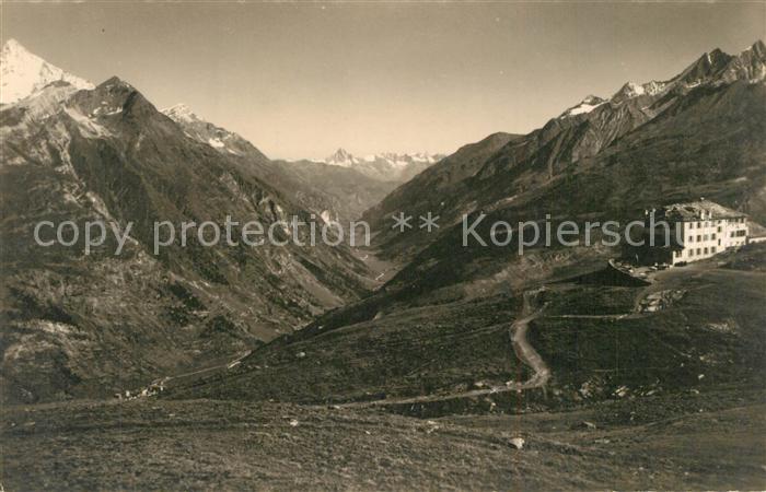 Zermatt_VS Berghotel Riffelberg mit Weisshorn Bietschhorn Mischabel Walliser Alpen Zermatt_VS