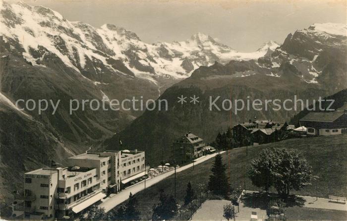Muerren_BE Hotels Alpina und Edelweiss Berner Alpen Muerren_BE
