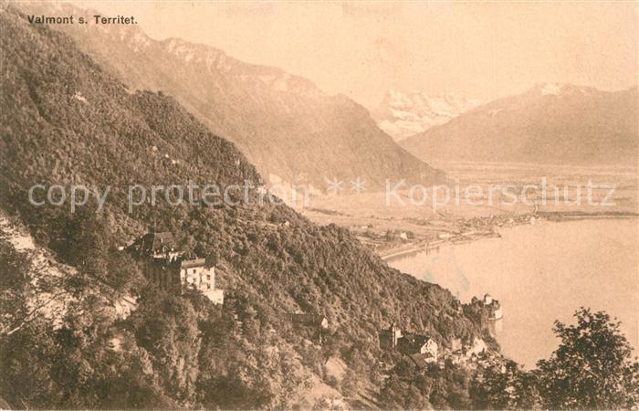 Territet_Montreux Panorama Sanatorium Valmont Lac Leman Alpes Territet Montreux