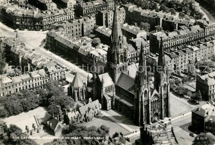 Edinburgh Cathedral Church of St Mary aerial view Edinburgh
